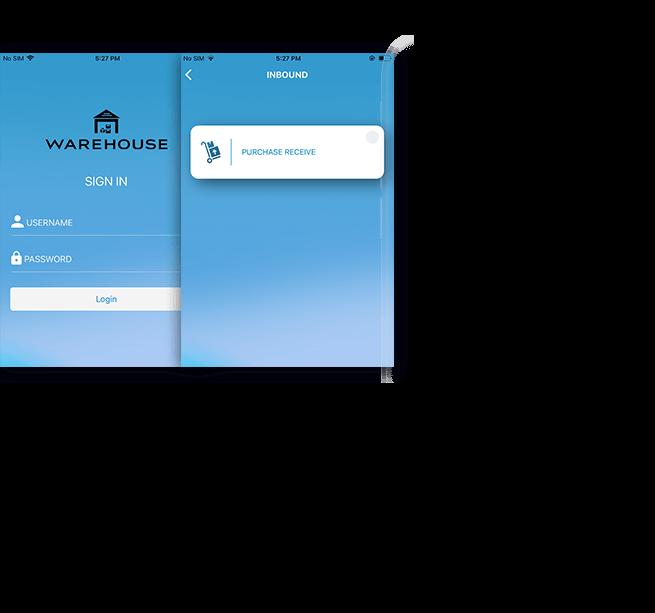 Warehouse Management App Screen Shot